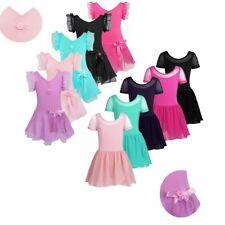 Girls Gymnastics Ballet Dancing Dress Kids Tutu Dancewear Leotard Skirt Costume