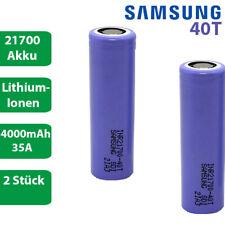 2 x Samsung INR 21700-40T Li-Ion 4000mAh 35A 3,6-37V Akku Lithium Accu