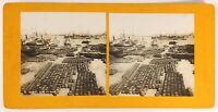 Algeria Algeri Quais E Rade, Foto Stereo Analogica Ca 1900