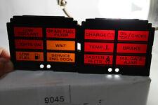 1980'S OLDSMOBILE CUSTOM CRUISER WAGON OEM DASH WARNING LIGHT LEFT & RIGHT LENS