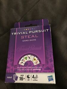 Trivial Pursuit Steal Card Game Hasbro Ages 16 And Up Cards Sealed!