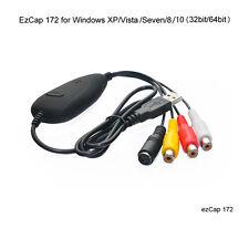 EzCAP 172 USB Video Capture Stick 32&64 Bit Easycap Record PVR VHS WIN 7/8/win10