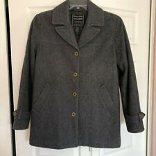 Vintage ABERCROMBIE & FITCH Women's Wool Pea Coat Jacket MADE IN ITALY Size M