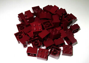 LEGO Bricks  2x2 x 50 pcs - Dark Red - Used !