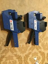 Avery Dennison M-1 Single Row Blue and Black Price Pricing Gun Lot Of 2 Tested