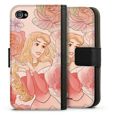 Apple iPhone 4 Tasche Hülle Flip Case - Sleeping Beauty royal floral