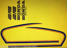 HONDA CB400 CB400F CB400F2 PETROL TANK AND SIDE PANEL DECALS