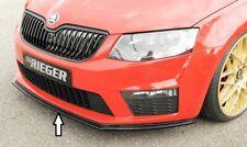 Skoda Octavia vRS 5E (06/13-02/17) RIEGER Front Spoiler Splitter - Gloss Black