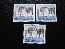 SUEDE - timbre yvert et tellier n° 2035 x3 obl (A29) stamp sweden