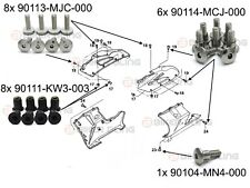 Honda CBR1000RR 2004-2005 front fairing shouldered bolts well nuts tapping screw