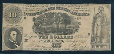 CONFEDERATE STATES of AMERICA 1861 $10 NOTE !! 80