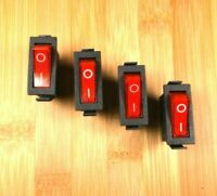 4 BBT Lighted Red on/off Rocker Switches