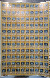 Rare original pokemon X110 1st ed. base set uncut sheet MACHAMP 8/102  WOTC