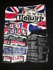 Vintage 80s 90s Sex Pistols Anarchy in the UK Tour T Shirt Clash L Concert Dates