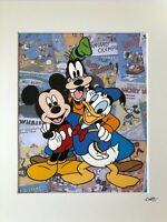 Mickey Mouse, Donald Duck & Goofy - Hand Drawn & Hand Painted Cel