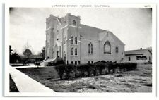 Early 1900s Turlock, CA, Lutheran Church Postcard