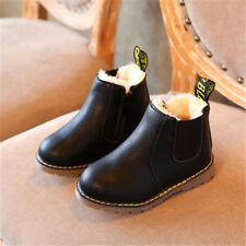Baby Girls Boy Winter Fur Lined Warm Shoes Kids Ankle Boots Waterproof Size 4-13