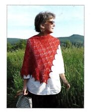 GORGEOUS LACE WONDERBERRY SHAWL to KNIT in FINGERING WT YARN by BLUE PENINSULA