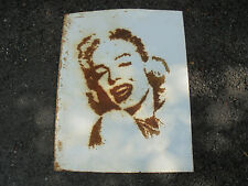 """Industrial Marilyn Monroe Steel Plate Art Sculpture with Drilled Holes 20"""" x 25"""""""
