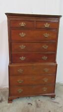 Baker Chippendale Tall Chest Highboy Mahogany Set