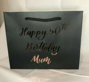 Personalised Gift Bag Age Birthday 16th 18th 21st 30th 40th 50th Any Name BRG