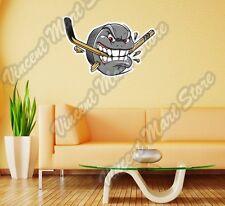 "Hockey Puck Bites Breaks Stick Skate NHL Wall Sticker Room Interior Decor 25X20"""
