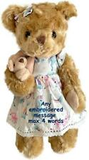 More details for personalised jointed teddy bear baby birthday flower girl christening bridesmaid