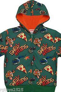 Ninja Turtle Sweatshirt Jacket 4 5 6 7 8 10 14 16 Hoodie Child XS S M L XL