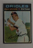1971 Topps #595 Dave Johnson Baltimore Orioles