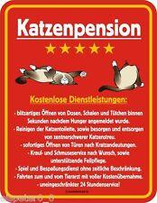 Letrero de metal 17 x 22 , pensión gatos, Cartel Publicitario SIN MARCO ART.3497