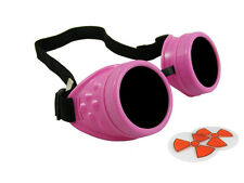 CANDY PINK CYBER GOGGLES STEAMPUNK WELDING GOTH COSPLAY