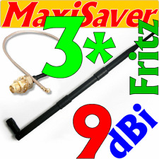 3 x 9dbi antenne et 3 x pigtail u. fl wlan Kit de conversion transformation pour AVM Fritz! BOX 3270