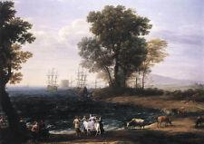 Wonderful Oil painting Claude Lorrain - Coast Scene with the Rape of Europa