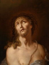 Classical Oil painting male portrait Christ Jesus torture Thorns free shipping