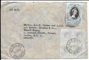 BAHAMAS 1953 KG6 / QEII COVER