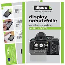 6 x dipos Nikon D5200 protezione Display Pellicola opaco Anti-riflesso