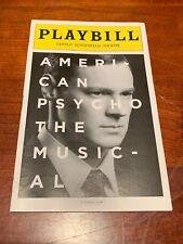 American Psycho Broadway Musical Playbill - May 2016! Ben Walker +! FREE US SHIP
