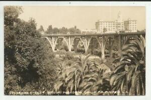 RPPC Colorado Street Bridge Pasadena California Real Photo Post Card