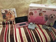 nintendo 3ds Coral Pink Includes Nintendogs + Cats