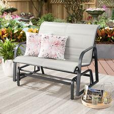 Montrose Padded Sling Glider Bench Outdoor Garden Patio Porch Furniture Chair