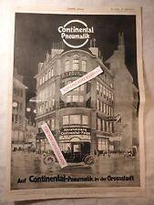 alte Werbung Reklame Anzeige Continental-Pneumatik Reifen Oldtimer von 1913