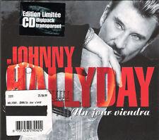 "JOHNNY HALLYDAY: CD SINGLE DIJIPACK 2 TITRES  ""UN JOUR VIENDRA"""