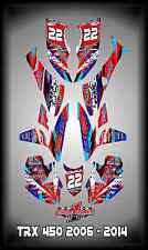 Honda TRX 450R ATV SEMI CUSTOM GRAPHICS KIT