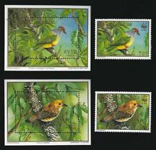 Cook Islands. Birds. World Wildlife Fund, and Birdpex Exhibition. Stamps and min