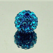 10PC 10mm Multicolor SHAMBALLA Perlen Beads Shining Loose Beads