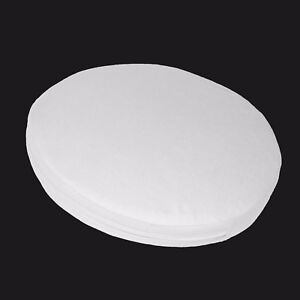 aa132r White Cotton Canvas 3D Round Shape Seat Cushion Cover Custom Size Made