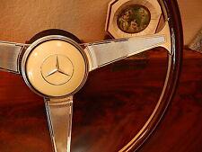 Mercedes W107 560 SL Steering Wheel DARK Wood NARDI 300 SL Gullwing Horn Button