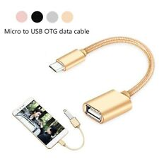 Micro Male to USB Female OTG Nylon Adapter Data Cable for iOS PC Andriod iPad