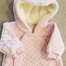 DARLING! NORDSTROM BABY NEWBORN PINK QUILTED HOODED SNOWSUIT REBORN