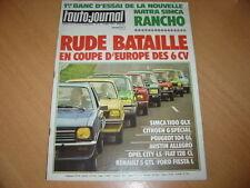 AJ N°9 1977 Matra Simca Rancho.Coupe d'Europe 6 CV